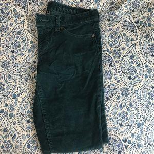 Gap Emerald Green Corduroy Skinny Pants